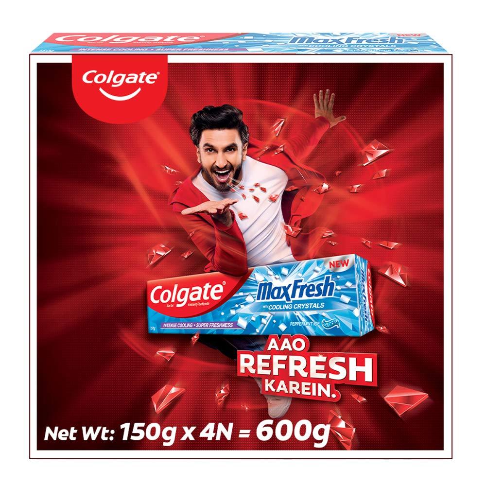Colgate MaxFresh Toothpaste,600g, 150g X 4