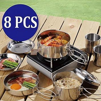 Bazaar 8pcs cocinar al aire libre de picnic barbacoa placa ...