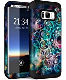 Hocase Galaxy S8 Case, Heavy Duty Protection Shock Absorbing Silicone Rubber Bumper+Hard Plastic Shell Hybrid Dual Layer…