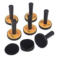 Winjun 6 Stück Gelb Car Wrapping Folie Montagemagnete Magnethalter Autofolie Werkzeug für Fensterfolie Verklebung Installation mit 6 STK. Ersatz Filz Pad