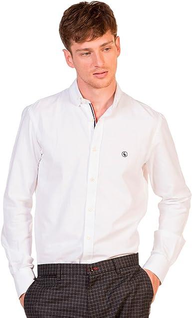 Camisa El Ganso Oxford Cambridge Blanco 42 Blanco: Amazon.es ...