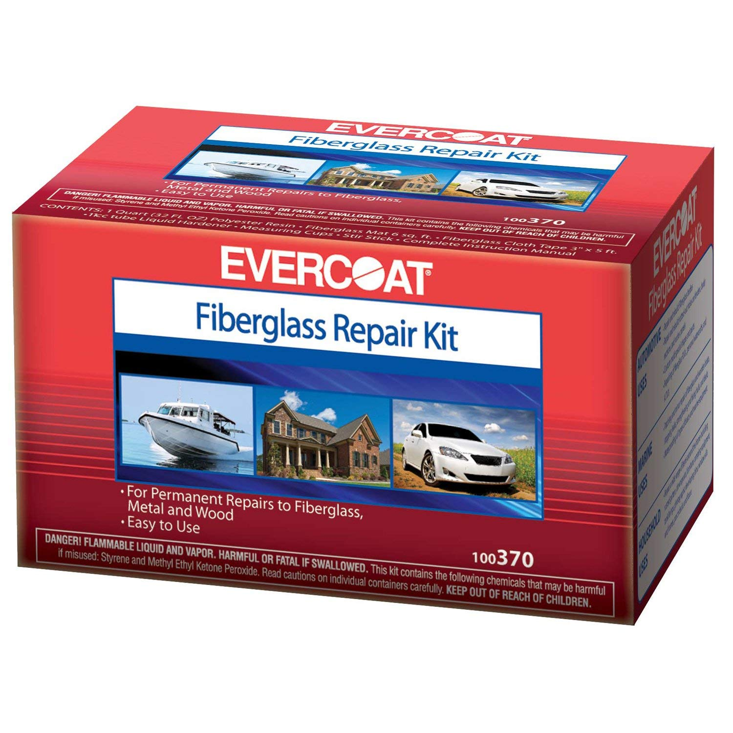 Fibreglass Evercoat 370 Polyester Repair Kit - Quart