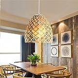 Kenay Home - Lámpara de Techo Ratán Color Roble Claro Elga ...