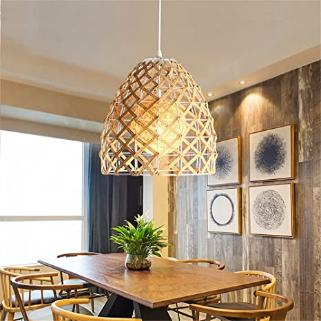 low priced 05fe5 11aa2 Industrial Pendant Light Modern simple rattan chandelier ...
