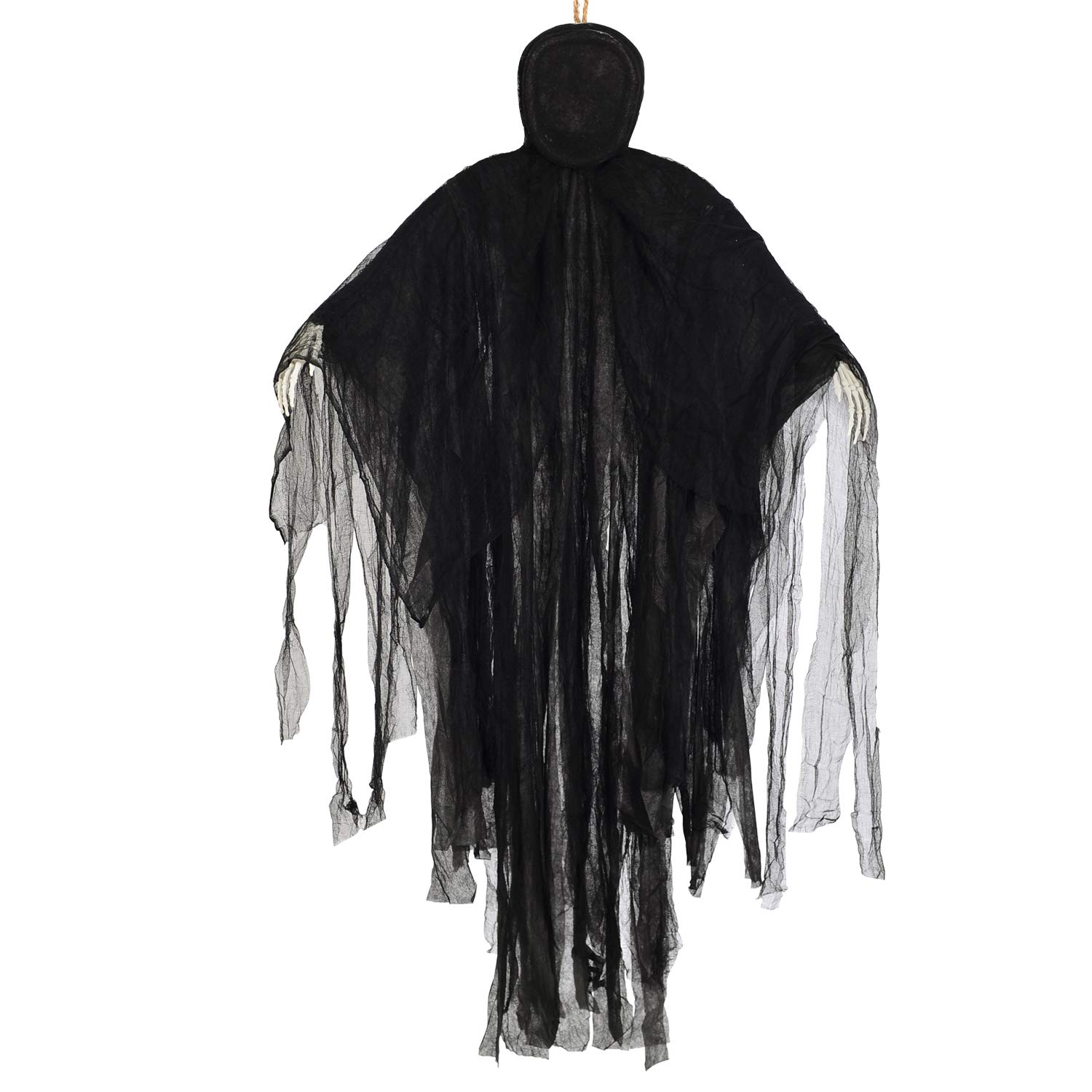 Aobuy 5 Ft Halloween Hanging Grim Reaper, Creepy Faceless Ghost Large Life-Size Halloween Decor Prop