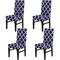 MIFXIN Dining Chair Cover Set Stretch Spandex Short Dining Chair Protective Cover Removable Chair Protector Seat Covers…