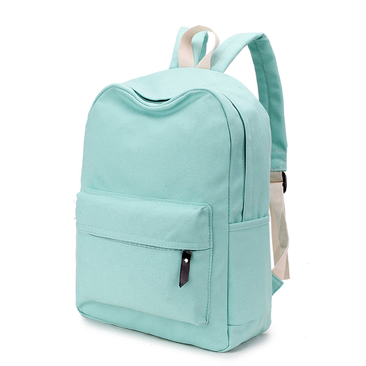 Amazon.com: Canvas Plain Japan Style Minimalism Best Backpack For Adolescent Girl Female Travel Leisure Women Backpack Shoulder Bag,Army Green,38x12x28cm: ...