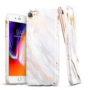 ESR Funda para iPhone 8/ iPhone 7 Mármol Suave TPU Gel [Ultra Fina] [Protección a Bordes y Cámara] [Compatible con Carga Inalámbrica] para iPhone 7/ ...