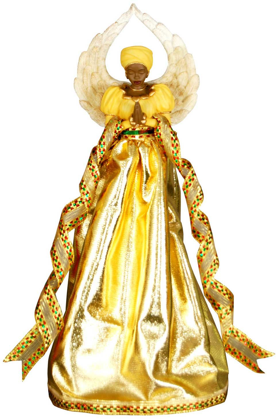Serenity Gold African American Christmas Tree Topper United