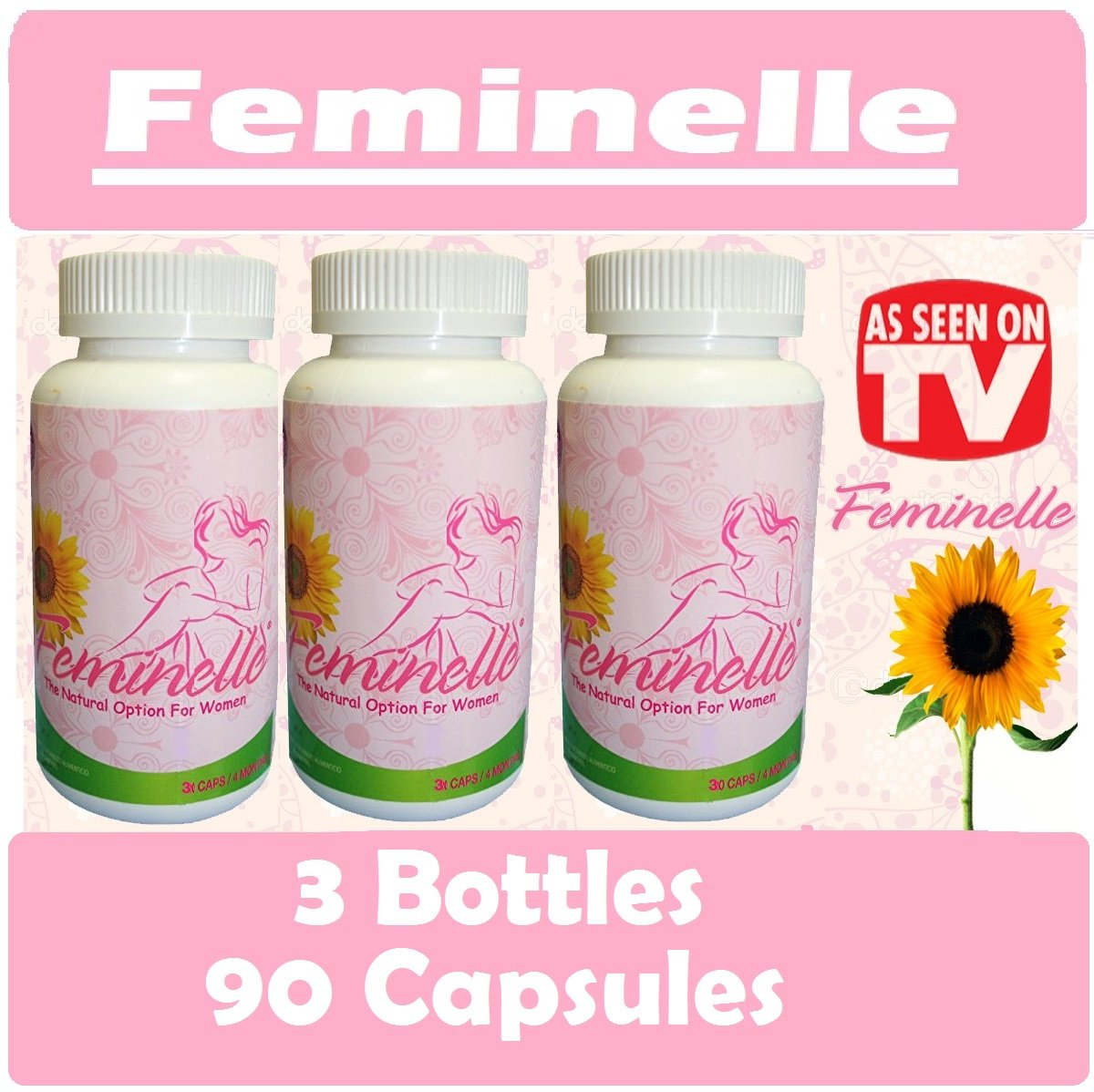 Feminelle 3 Frasco 90 capsules 3 month supply Natural by BLESS CO