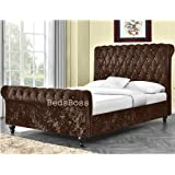 Enzo Italian Designer Faux Leather Double Bed Stunning ...