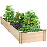 YAHEETECH Raised Garden Bed Kit - Wooden Elevated Planter Garden Box for Vegetable/Flower/Herb Outdoor Solid Wood 96.7 x…