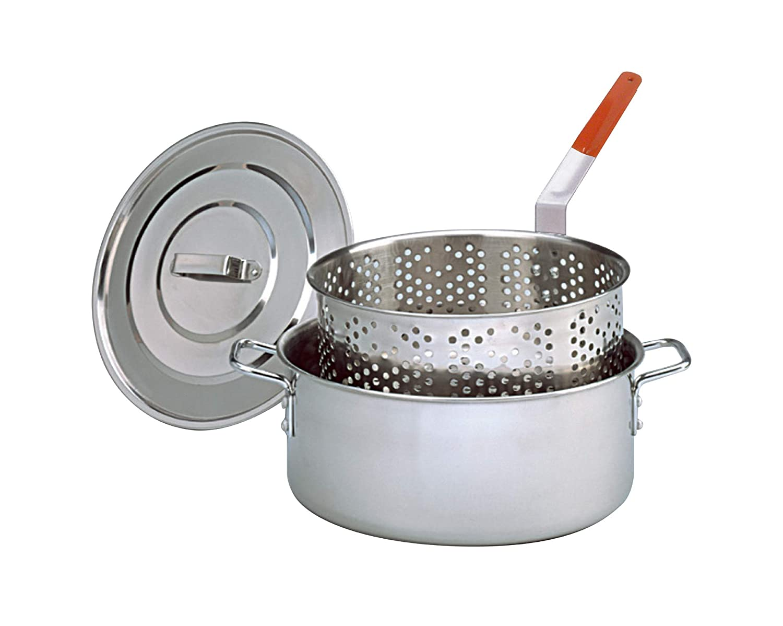 King Kooker KK2S Stainless Steel Deep Fry Pan with Lid KK 2S