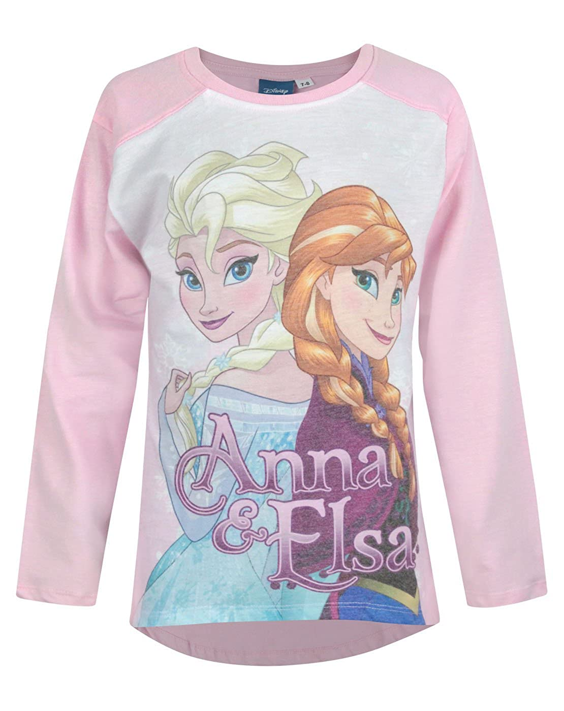 ceb8ac21e Amazon.com: Official Frozen Anna & Elsa Girl's Long Sleeve Top (2-3 Years):  Clothing