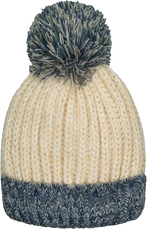 Slouchy Cable Knit Toddler Skull Hat Baby Ski Cap for Girls Boys Whiteleopard Kid Beanie Hats Lining Pom Pom for Children