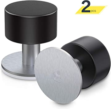 8 topes de puerta de acero inoxidable adhesivo con goma tope de puerta sobre o pared