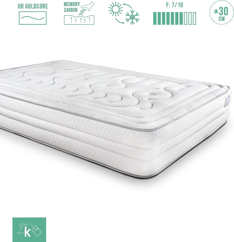 Dreaming Kamahaus Colchón Classic Visco Relax | 135 x 190 cm | 30cm Grosor | Sistema de Confort de 8cm con VISCOGRAFENO | Gama Alta | Almohada Regalo |