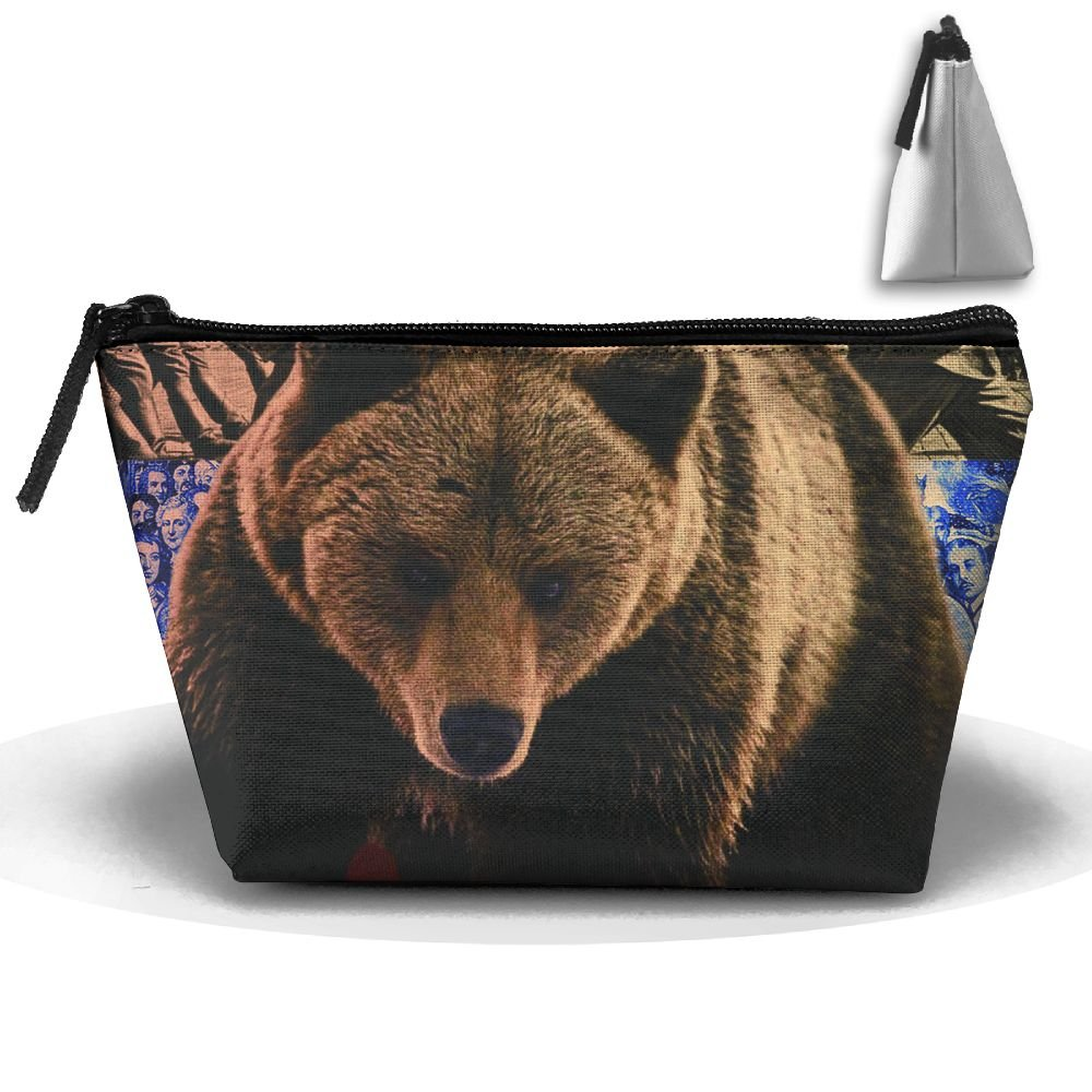 7ca57eeda58 hot sale 2017 Enuain Russian Bear Makeup Bag Travel Cosmetic Pouch Storage  Brush Holder Toiletries Bag