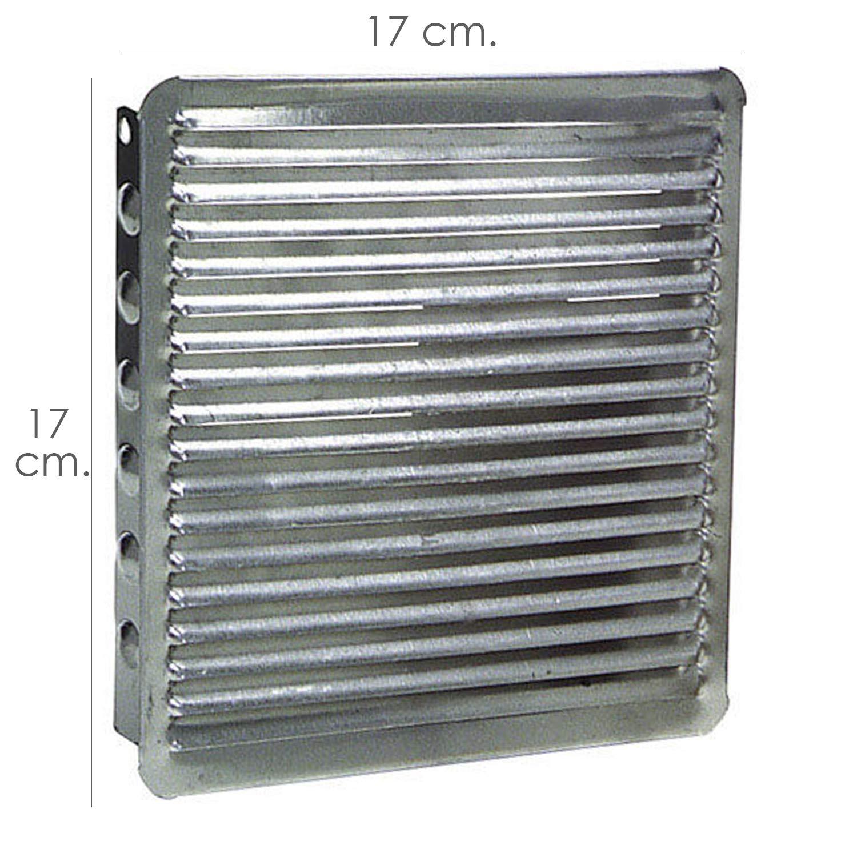 Wolfpack 2530032 Rejilla Ventilacion Empotrar 17x17 Aluminio