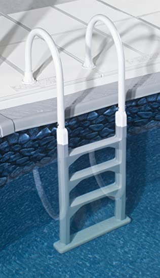 above ground in pool deck ladder