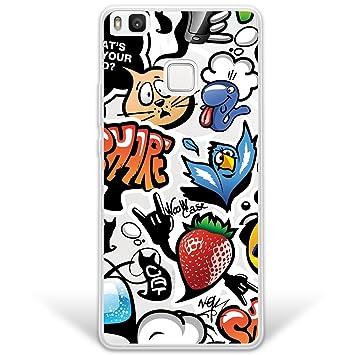 WoowCase Funda Huawei P9 Lite, [Hybrid] Grafiti de Colores 2 ...