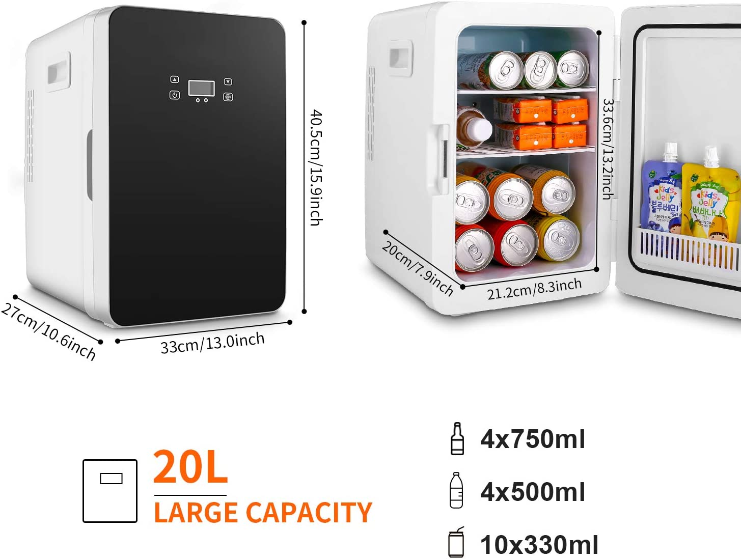 Amazon Promo Code for 20L Mini Fridge Portable Compact Refrigerator