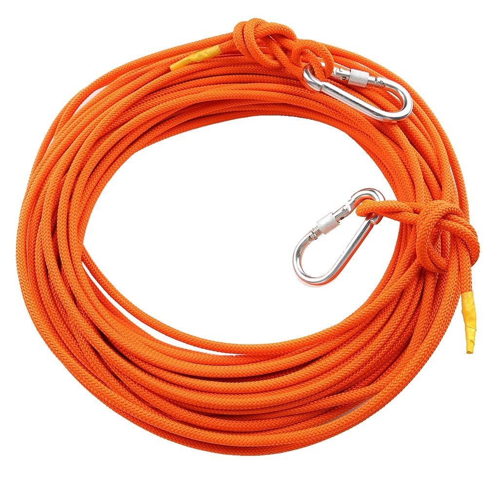 YX Xuan Yuan Rope- Wire Rope Outdoor Climbing Rope Auxiliary Rope Family Emergency Standby Safety Lifeline High-Rise Building Drop Rescue Rope 8mm, 3 Colors, 11 Sizes //////