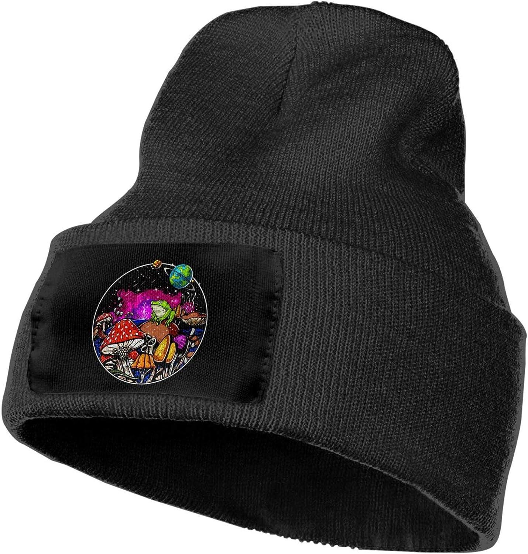 Night Butterfly Space Shroom Magic Mushroom Unisex Winter Hats Knit Hat Beanie Cap Men//Womens Black