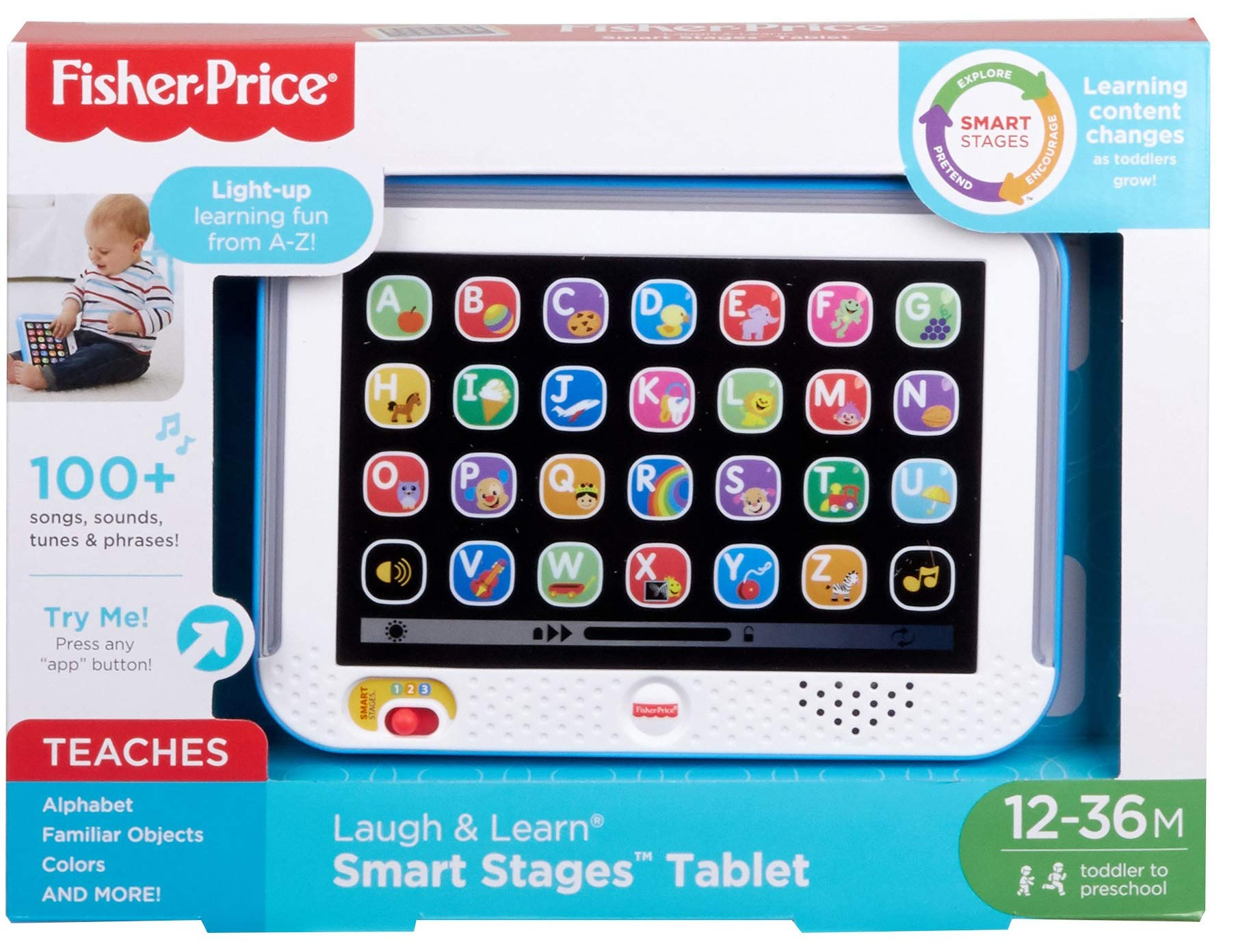 Fisher-Price Laugh & Learn Smart Stages Tablet, Blue by Fisher-Price (Image #5)
