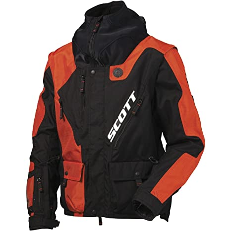 Scott 350 NB MX Enduro Moto Chaqueta Negro/Naranja 2016, hombre, color naranja, tamaño extra-large