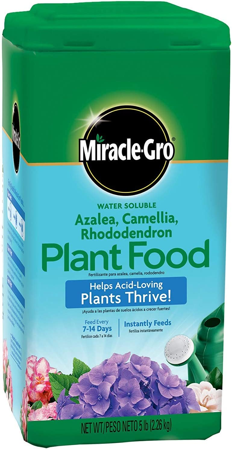 Miracle-Gro Water Soluble Azalea, Camellia, Rhododendron Plant Food, 5 lb.