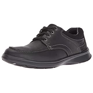 Clarks Men's Cotrell Edge Oxford, Black Oily Leather, 10.5 M US