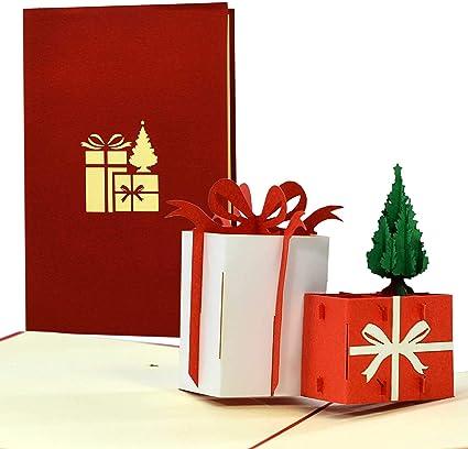 Biglietto di Natale 3D, pop up, simpatica idea regalo per un