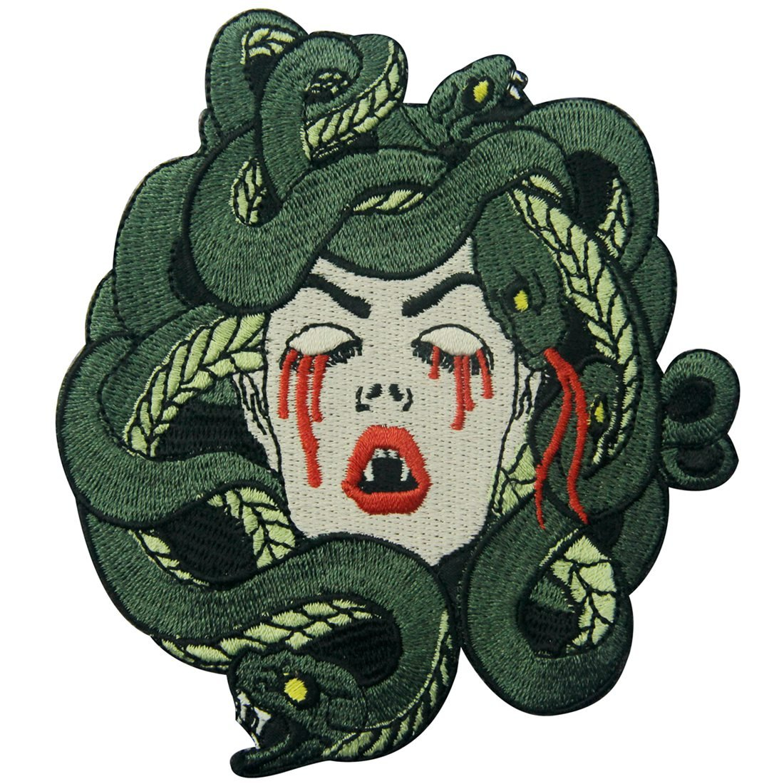 ZEGINs The Bleeding Medusa Embroidered Badge Iron On Sew On Patch 4337020628