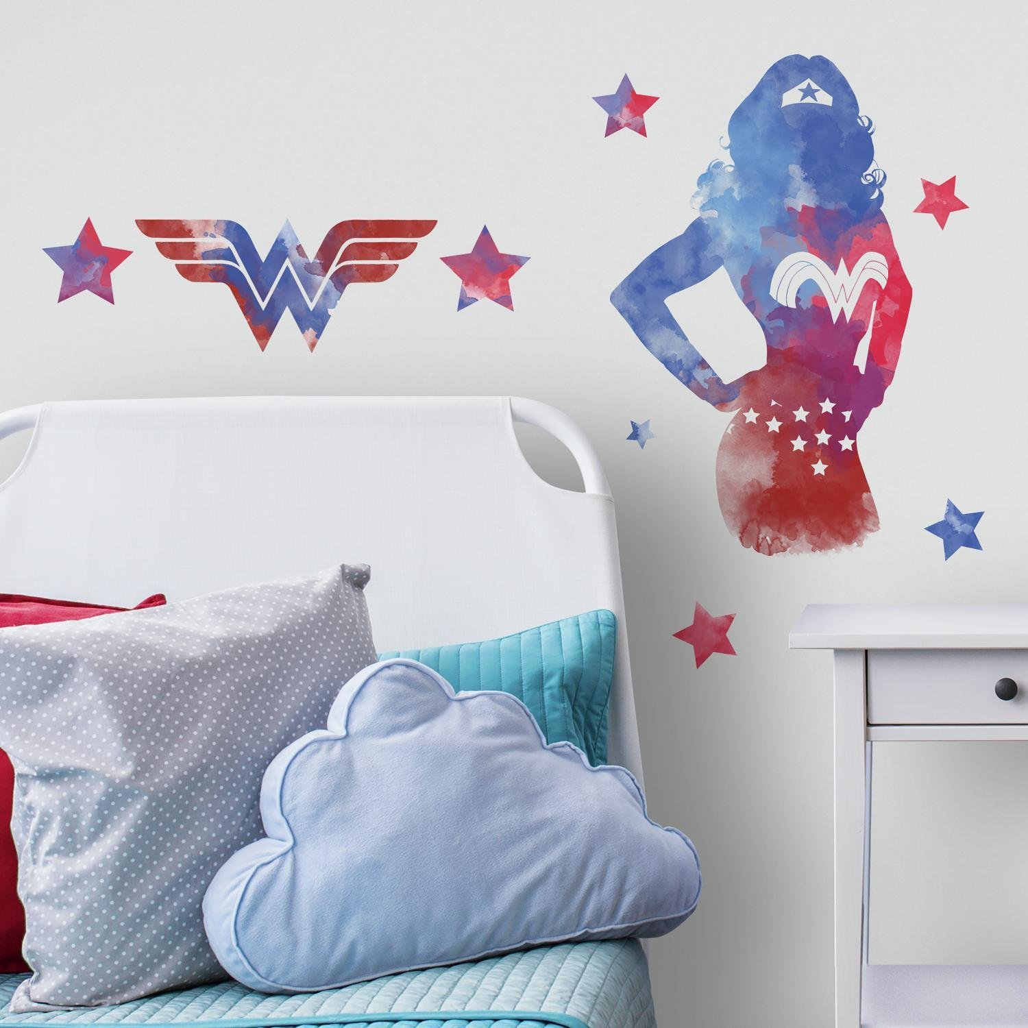 RoomMates RMK3602GM Wonder Woman Watercolor Peel and Stick Giant Wall Decals by RoomMates