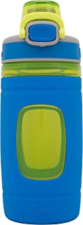 Bubba Flo Kids Water Bottle with Silicone Sleeve, 16 oz, Aqua
