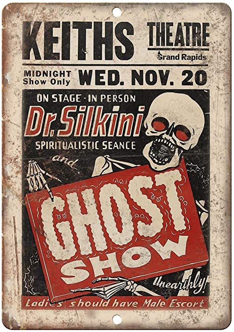 HALEY GAINES Dr. Silkini Ghost Show Placa Cartel Póster de ...