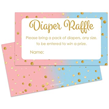 Amazon Com Baby Gender Reveal Party Diaper Raffle Tickets