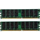 メモリーバー SODIAL(R)(2x1GB) DDR 400 MHz PC3200 PC3200Uノン-ECC デスクトップPC DIMM メモリ ラム184ピン