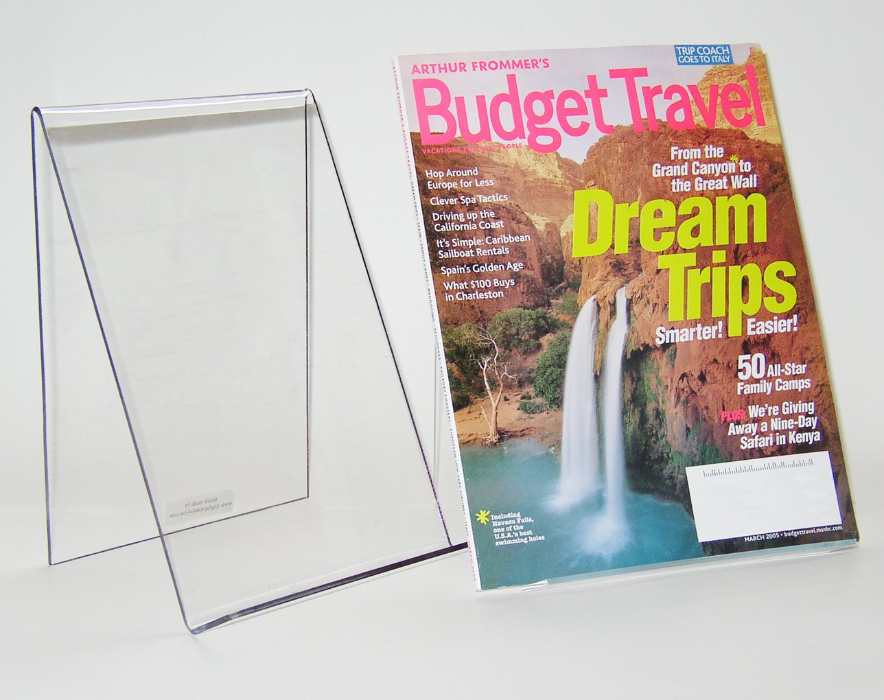 Book Display Holder w/o Lip (4 Pack) cs-5 Display Stands 4 You