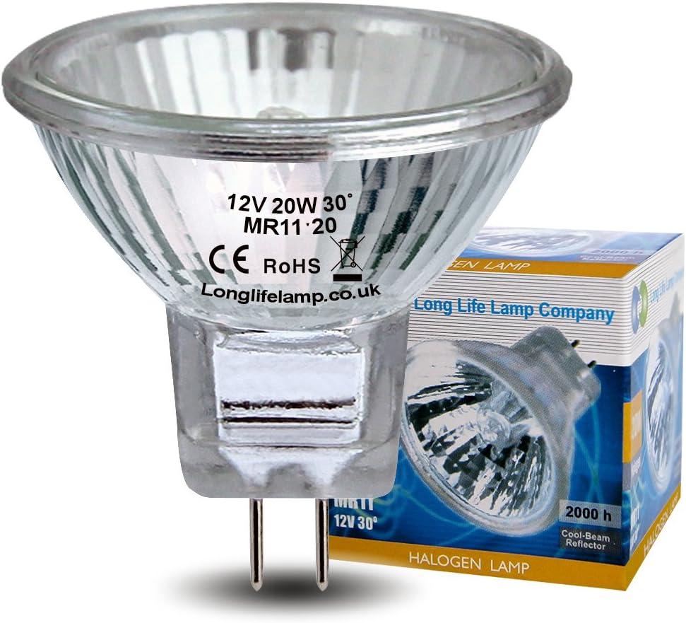 5 x MR11 20w Watt 12V GU4 Halogen Long Life Spot Light Lamp Light Bulb Bulbs