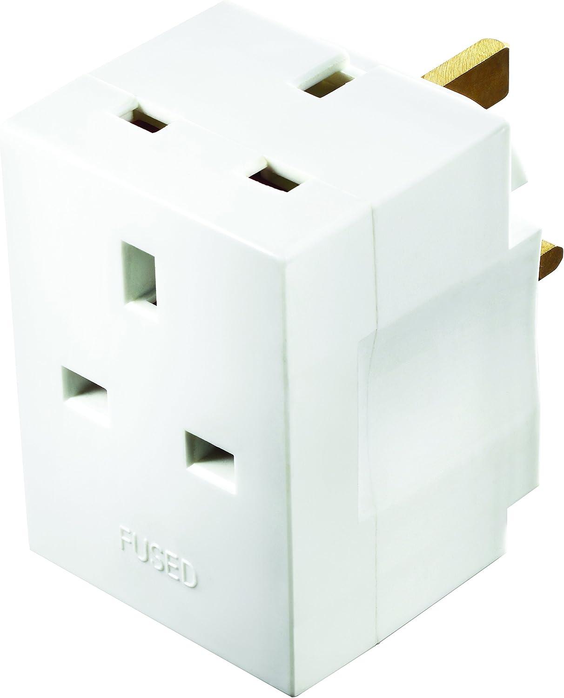 Masterplug trois Socket Surge Protected Adaptateur avec des commutateurs