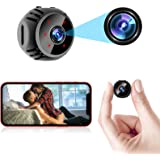 Upgraded Mini Spy Camera Wireless Hidden WiFi Nanny Cam Baby Monitor 1080P HD Home Security Indoor Video Recorder with Live F