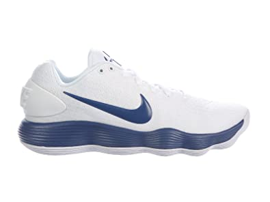 new style 4ff84 1f8e4 ... buy nike mens react hyperdunk 2017 low white court blue synthetic  basketball shoes 8 06bfb 766cc