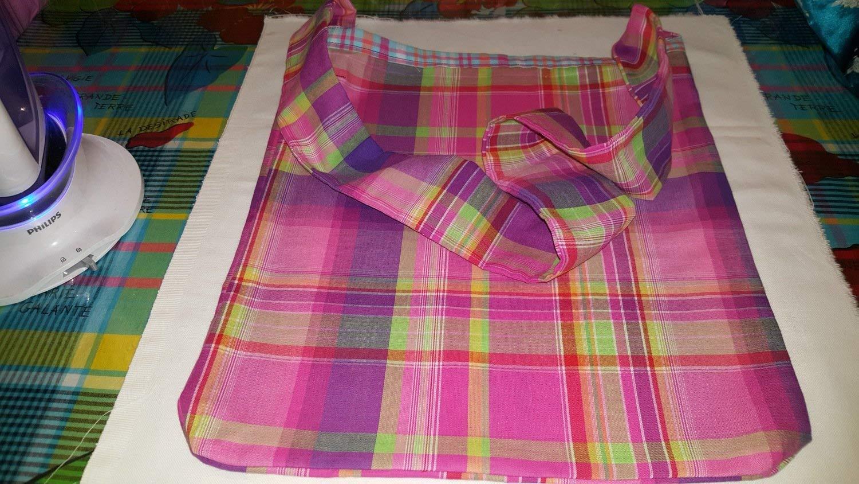 Bambini cucito, sacchetto cucito valutazione sullo stile N2306500 fatta da Giappone Madras controllare rosa (sacchetto soltanto) (japan import)