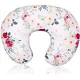 Floral Nursing Pillow Cover, Breastfeeding Pillow Slipcover for Baby Boys & Girls, Nursing Pillow Case for Newborn, Soft Fabr