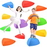 Gentle Monster Stepping Stones for Kids, Set of 11 Pcs for Balance with Non-Slip Bottom - Exercise Coordination and Stability