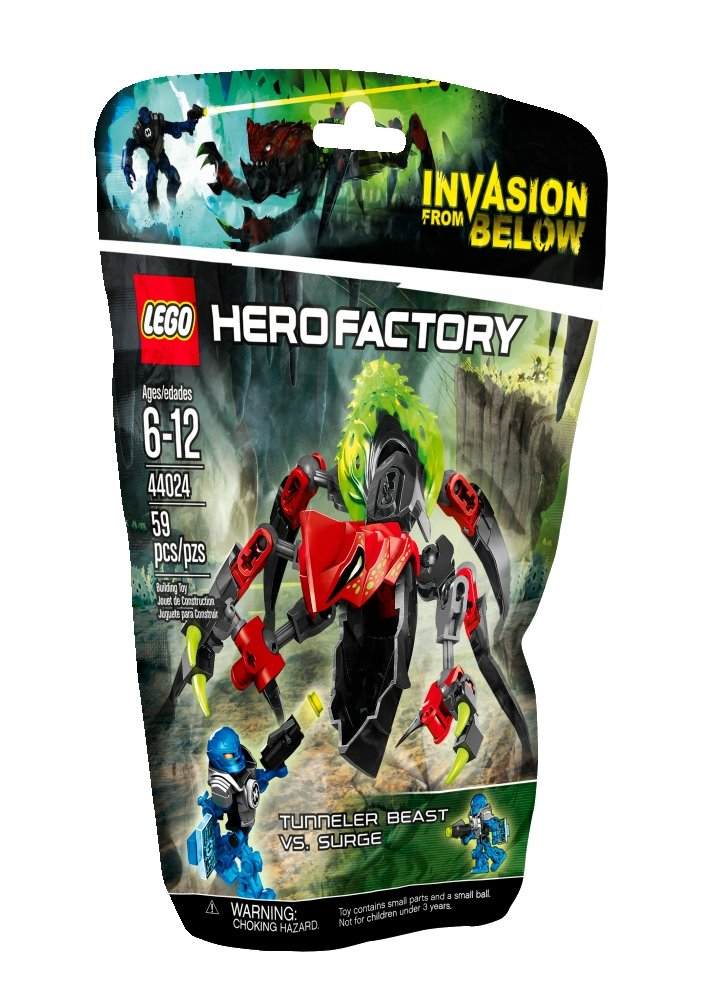 LEGO Hero Factory 44024 TUNNELER Beast vs. Surge Model Kit by LEGO