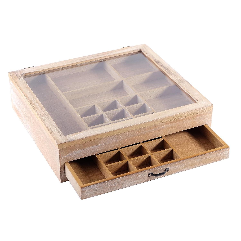 VINTAGE SETZKASTEN   SCHMUCKKASTEN   40x37 cm, Holz Holz Holz   Aufbewahrung von Schmuck, Edelsteinen, Perlen f64cc7