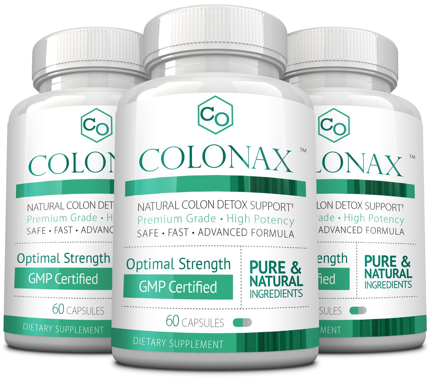 Colonax - Natural Colon Cleanse and Detox Support- Supports Colon Health and Weight Loss; 3 Months Supply